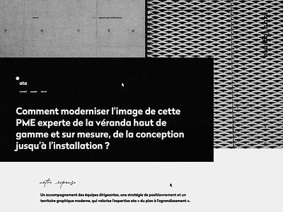 extra l'agence animation layout grid web branding website webdesign design art direction ui
