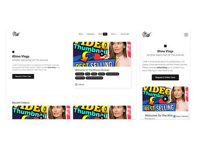 Rhino Vlogs Teaser - Coming This Year :) responsive design pixel rhino rhinoceros ux ui webflow vlogs