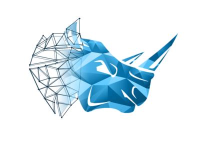 Rhino Personal Brand personal brand personal logo rhinoceros menacing lowpoly logo rhino
