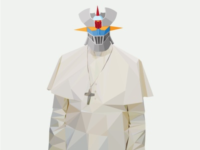 Pope Mazinger  pope mazinger robot illustration