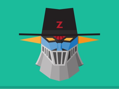 Mazinger Zorro [The Double Z] illustration art robot mazinger zorro funny