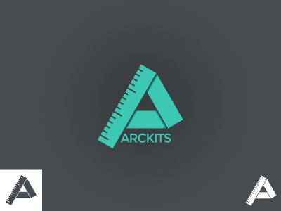 Arckits Dribbble logo brand wip illustration flat one-color architects