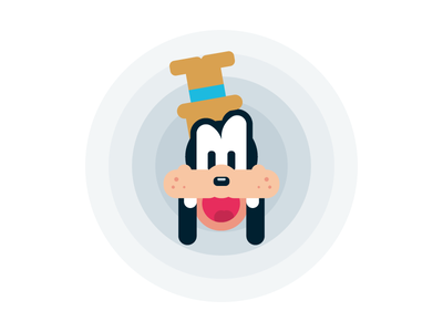 Flat Goofy illustration flat design drawing character disney goofy