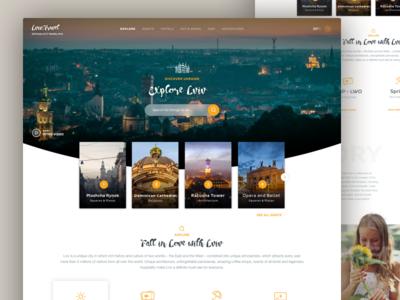 Lviv City Guide: Landing Page Concept