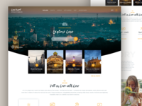 Lviv City Guide: Landing Page Concept adventure typography minimal layout landing lviv city concept travel
