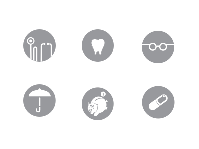 Health Benefits Icon Set