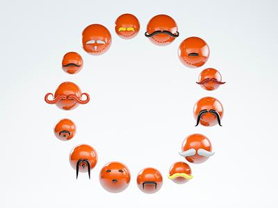 Movember Social Campaign logo branding movember cinema 4d