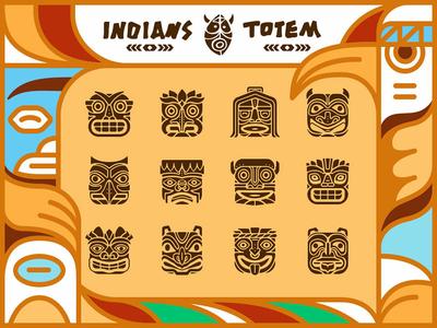 Indians Totem Pole