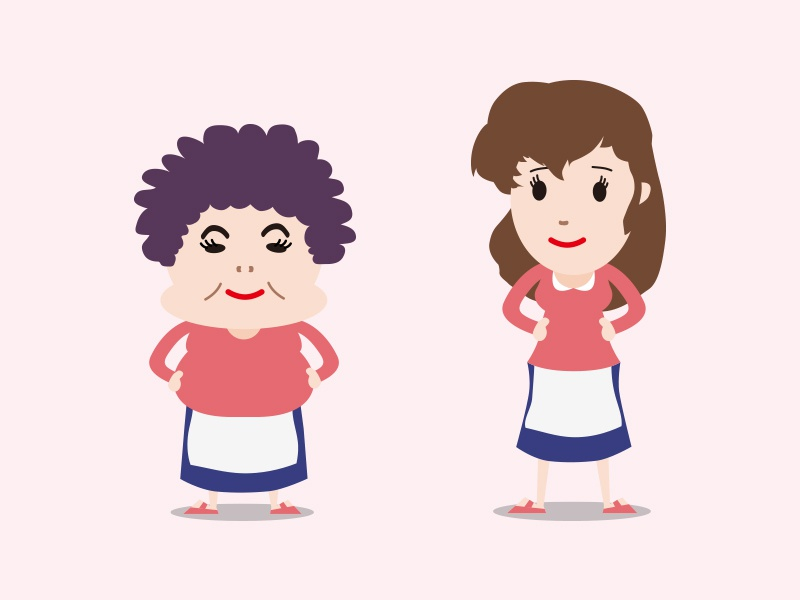 Japanese Mama japan illustration
