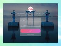 VisitJapan UI Login page