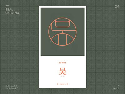 Wu's Surnames 吴 design art designs designspiration font font design fonts logo logodesign logo design branding logo designer logos logotype seal carving 篆刻 字体 字体设计 书法 传统艺术