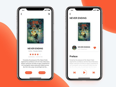 Books app Concept works literature read audio books concept