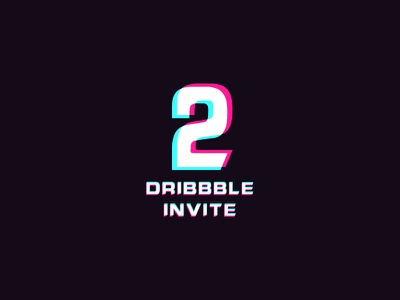 2 Dribble Invites web mobile iphone ios invite giveaway event invites dribbble