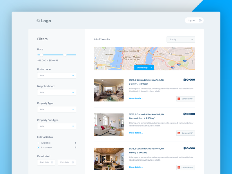 Real Estate CRM Interface app website ux ui interface real estate