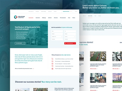 Colcear Logistics website ui ux design web website interface logistics transportation