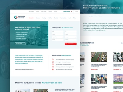 Colcear Logistics website