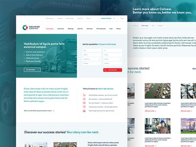 Colcear Logistics website ui ux design web website interface logistics transportation