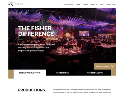 Fisher Productions Website Mock-Up