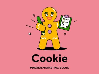 cookie cookie man web cookies cookies cookie slang funny digital marketing vector illustration