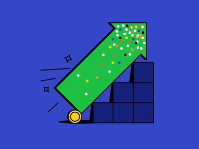 effective ads statistics steps grow facebook ad coin money ppc audience reach arrow marketing digital marketing advertising vector illustration