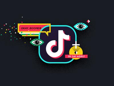 blog image tik tok social platform tiktok marketing blog digital marketing vector illustration