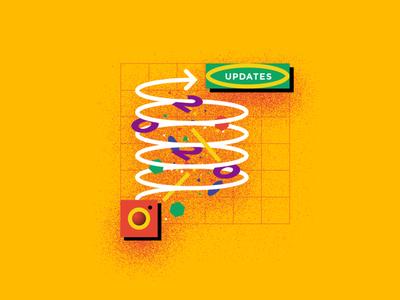 insta updetes update instagram socialmedia social network branding digital marketing marketing advertising vector illustration