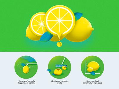 blog article illustrations value cloud cost squeeze lemon branding cloud blog illustration