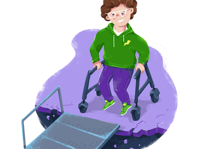 brochure illustration ramp special needs children child illustration