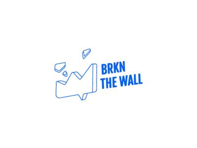 Logo Design pieces message digital brake wall marketing logo