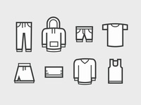 apparel iconset for e-commerce
