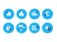 8 flat icons