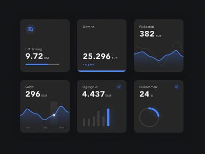 Data, Charts & Graphs (dark) analitycs data flat ux  ui darkmode dark clean chart graph dasboard ux ui design ui