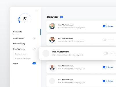 User & Role Management adobe xd web ux ui roles settings management user dashboard