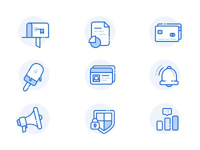 Dashboard Icon Set chart document bank account bank notification alert dashboard icon icon set