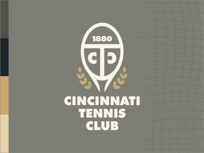 Cincinnati Tennis Club lines olive club cincinnati wreath tennis
