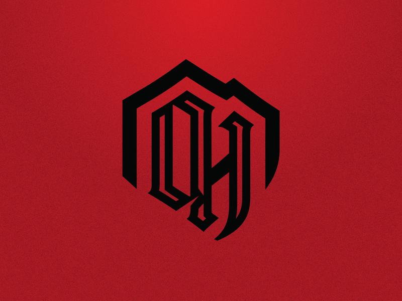 Oak Hills Highlanders Monogram red tartan mountain highlanders branding sports