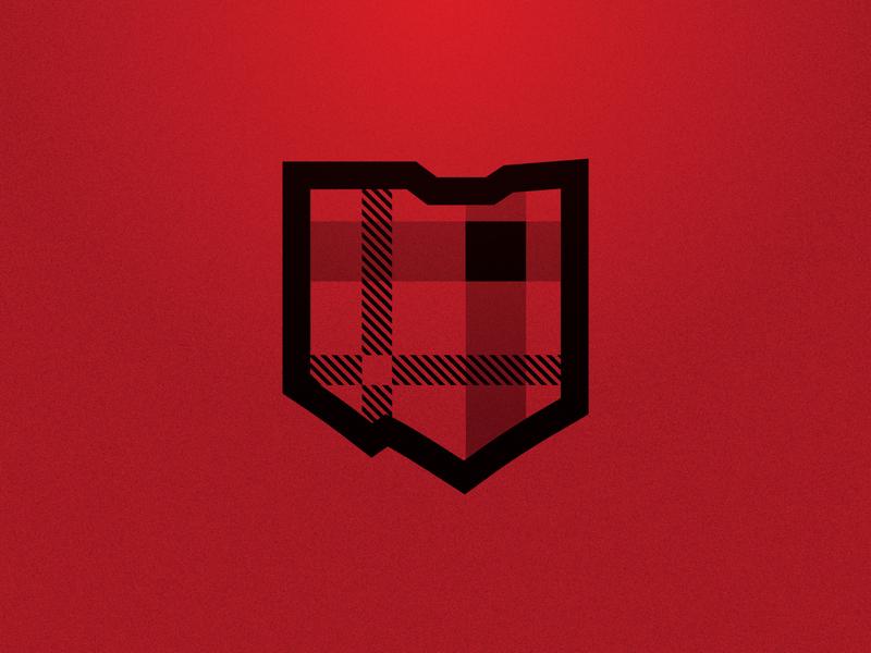 Oak Hills Highlanders Tartan red tartan crest brand sports ohio