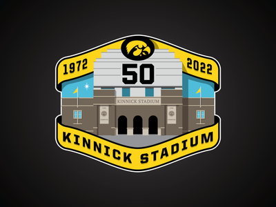 Kinnick 50th Anniversary Patch patch 50 iowa college football sports branding