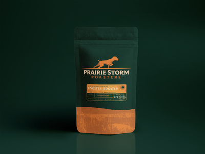 Prairie Storm Roasters roaster prairie coffee shop branding mockup pointer hunting coffee