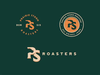 Prairie Storm Roasters pointer branding roaster dog prairie hunting coffee