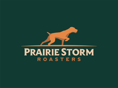 Prairie Storm Roasters hunting coffee shop dog roasters storm prairie branding coffee