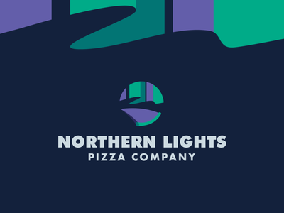 Northern Lights Pizza branding design lights night midwest aurora northern lights pizza branding