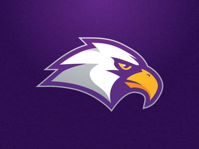 CHCA Eagles Opt. 1 mascot purple eagle branding sports