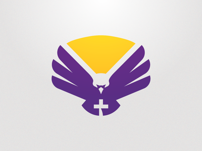 CHCA Eagles Opt. 2 christian cross eagle mascot branding sports