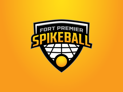 Fort Premier Spikeball black and yellow ball premier fort cincinnati crest sports spikeball