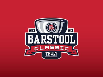 Barstool Classic Logo golf club 2021 trophy barstool classic badge golf