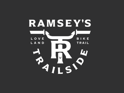 Ramsey's Trailside monogram ohio badge trail bike trail