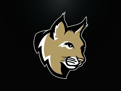 Bobcats Mascot vector team college gold branding design logo sports wildcat bobcat