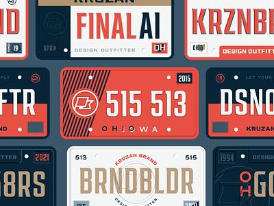 Kruzan Brand License Plates v1 travel cars sports license plate plate brand