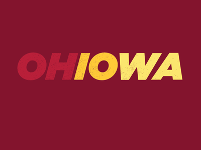 OHIOWA (Cyclone Version) cardinal gold red iowa state screenprint iowa ohio